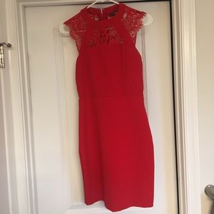 Stunning red lace Express dress